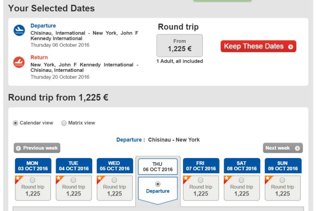 Бизнес-класс Turkish Airlines, Кишинев – Нью-Йорк, 1 200 €