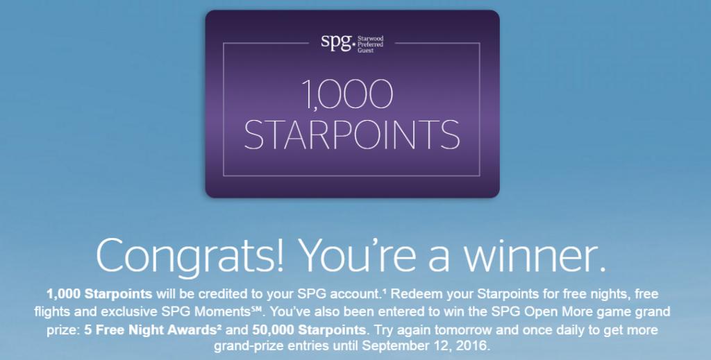 starwood lottery