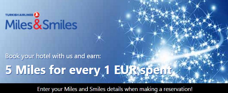 Мили Turkish Airlines за бронирование отеля на booking.com