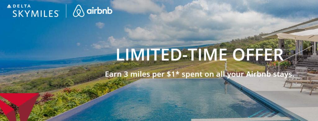 В три раза больше миль Delta за пребывания в Airbnb