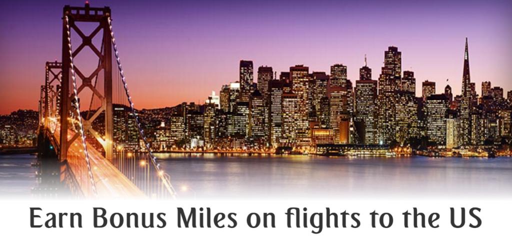 Бонусные мили Emirates за перелеты в США