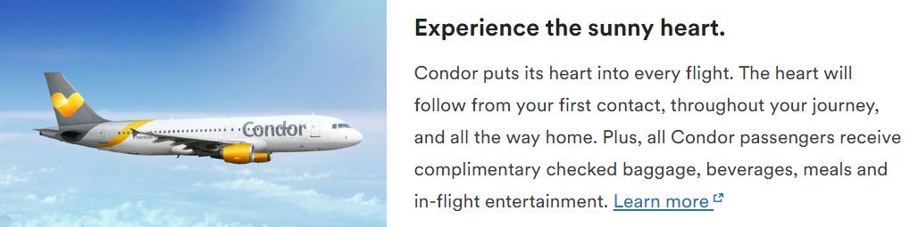 Мили Alaska уже можно тратить на рейсы Condor!