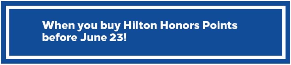 Распродажа баллов Hilton Honors со скидкой 30%