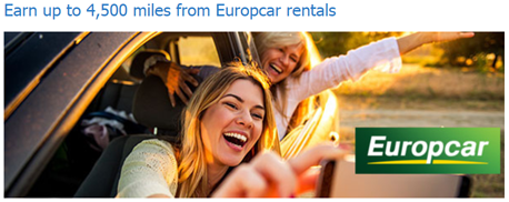 До 4 500 миль Аэрофлот Бонус за аренду автомобиля с Europcar