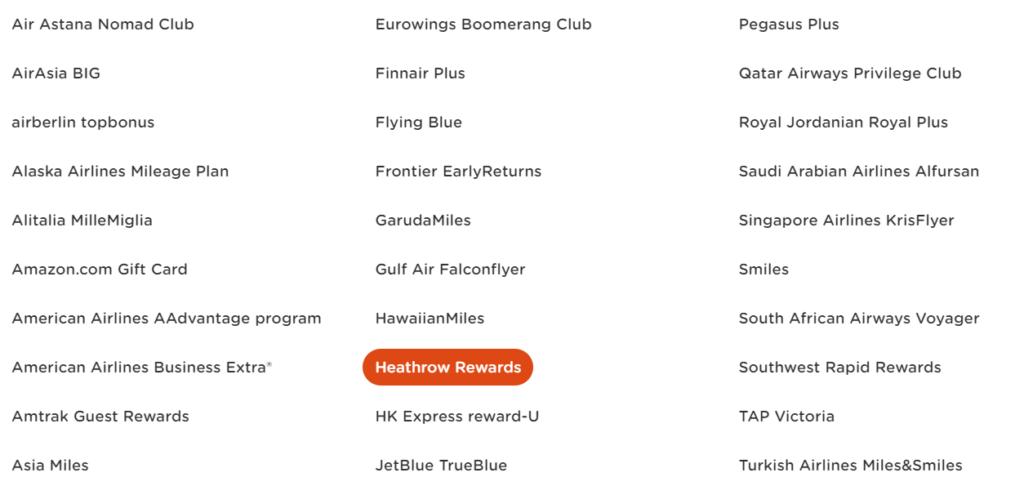 50% бонус при конвертации Heathrow Rewards в Miles&More