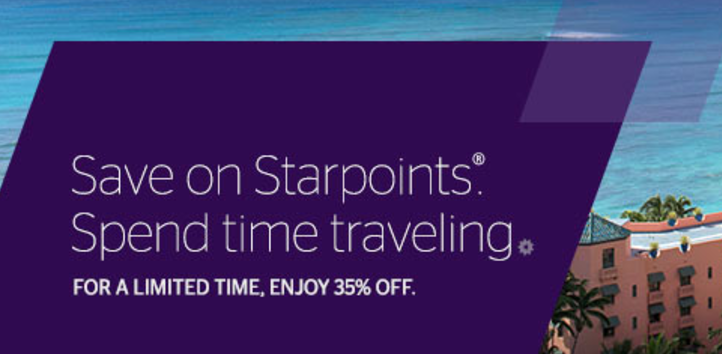 Распродажа SPG Starpoints со скидкой 35%