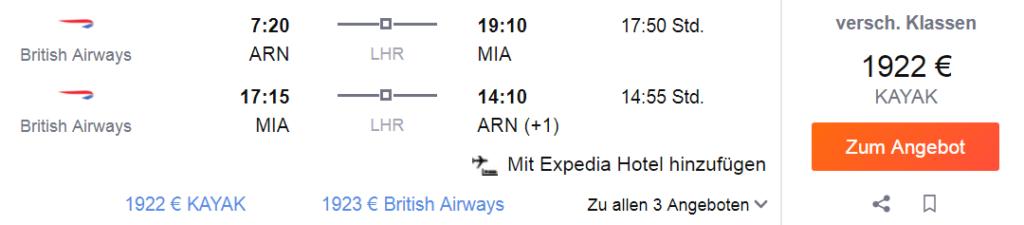 Первый класс British Airways в США от 2 000 €