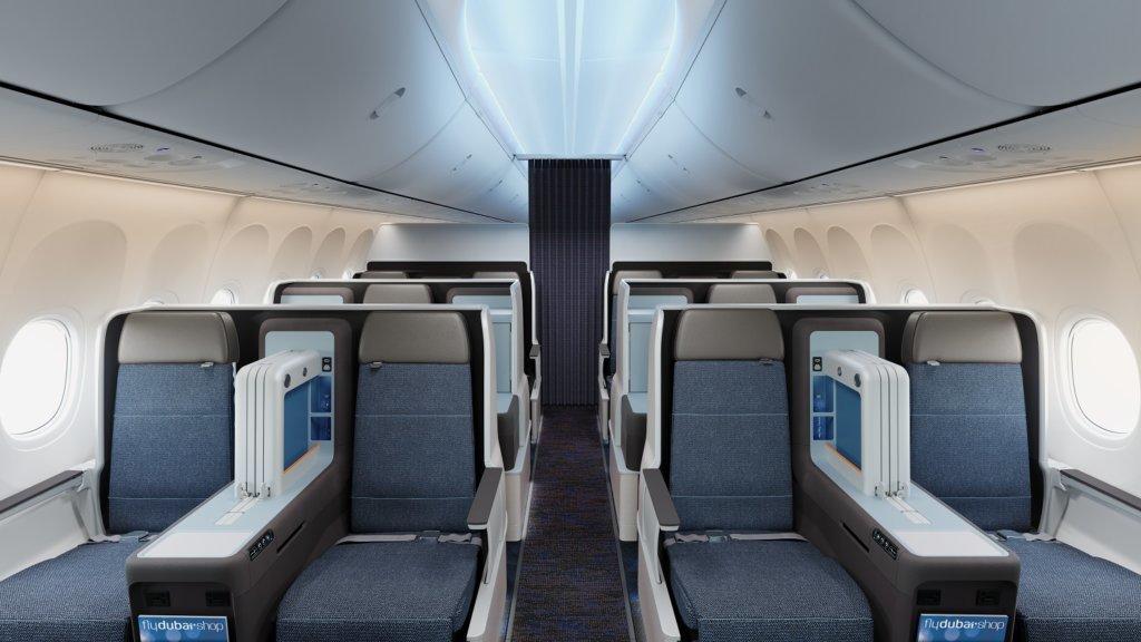 Новый бизнес-класс flydubai на рейсах в Москву и Киев!