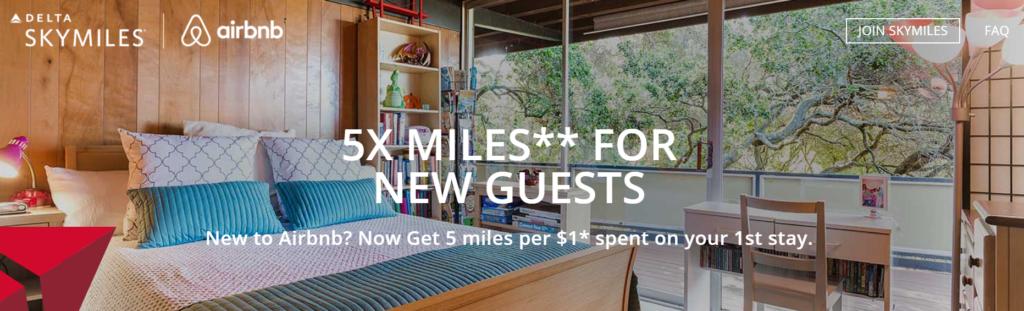 2 мили Delta SkyMiles за доллар при пребываниях в airbnb