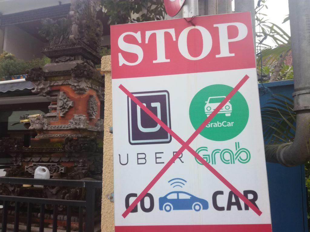Работает ли Uber на Бали?