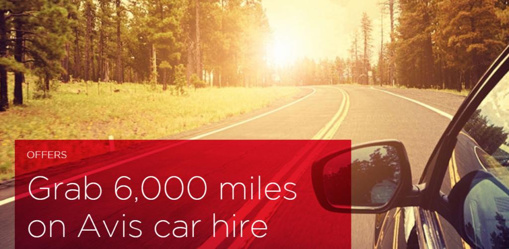 6000 миль Virgin Atlantic за аренду у Avis (420 € за первый класс ANA!)