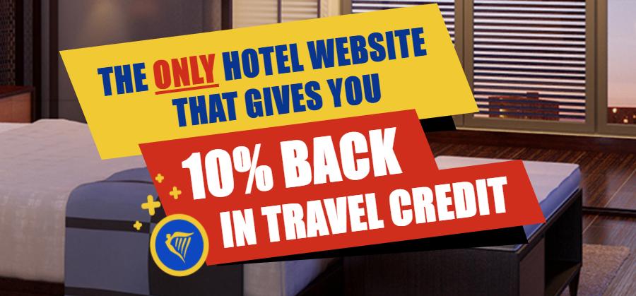 10% кэшбек при бронировании отелей через Ryanair