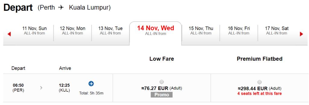 Премиум-класс Air Asia из Австралии в Куала-Лумпур от 298€!