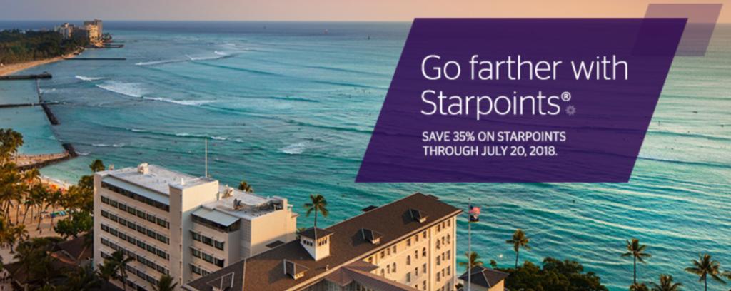 Новая распродажа SPG Starpoints со скидкой 35%